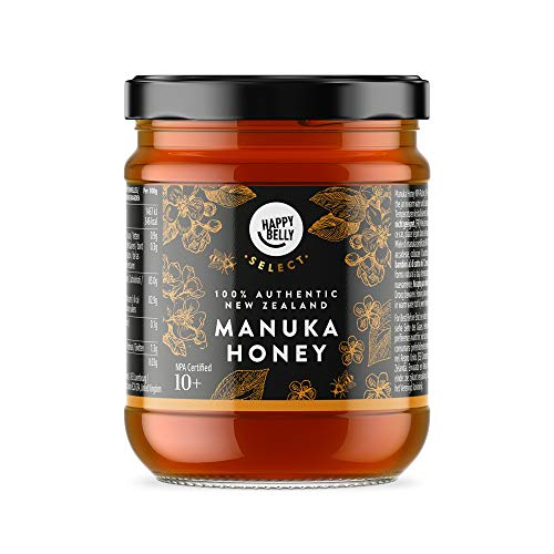 Marca Amazon - Happy Belly Select Miel de manuka 10+, 340gr