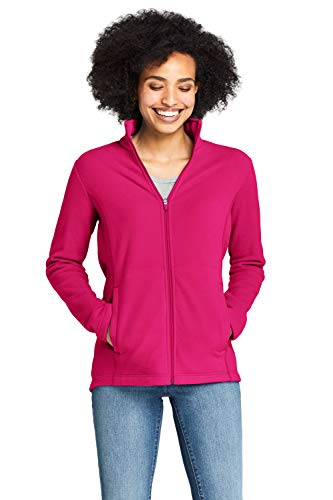 Lands' End Damen Fleece-Jacke 48-50 Pink - Beerentraum