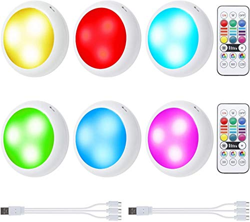 OxyLED Motion Sensor Closet Lights + Rechargeable Puck Lights