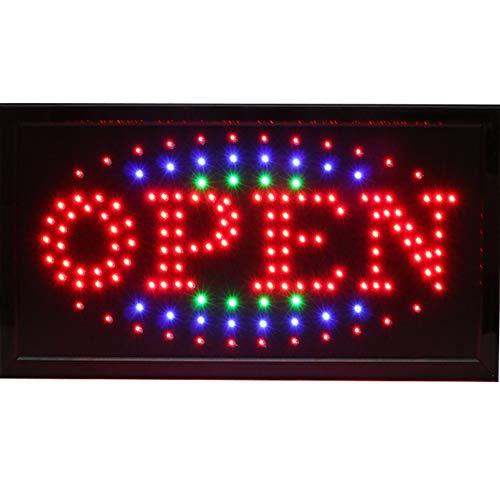 Chenxi LED-Warnschild, leuchtend blinkend, zum Aufhängen, Neon-Licht-Shop, 48 x 25 cm für Business Modern 48 X 25 CM S