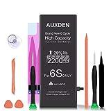 AUXDEN 2200mAh Batería Compatible para iPhone 6S de Alta Capacidad 0 Ciclo con Kits de Herramientas de reparación, Cinta Adhesiva