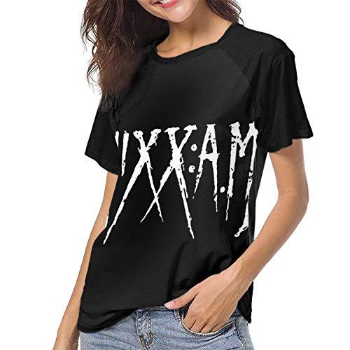 JEWold Sixx Am Women's Baseball Short Sleeves Black Raglan T-Shirts tee T Shirts For Women Camisetas de Manga Corta para Mujer