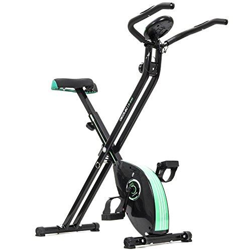 Cecotec Bicicleta Estática Plegable Magnética X-Bike. Pulsómetro, Pantalla LCD, Resistencia Variable, Pedales de Máximo Agarre, 2,5kg Volante de Inercia