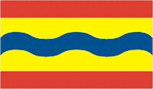 U24 sticker Overijssel vlag vlag vlag 8 x 5 cm autosticker sticker