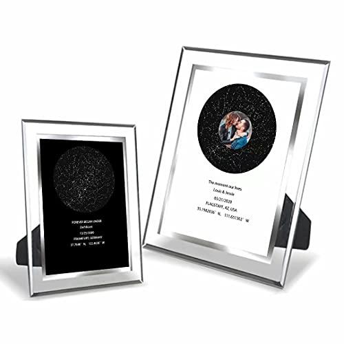MILsEnse Marco de Imagen de Cristal Personalizado Cielo Nocturno Mapa de Estrellas...