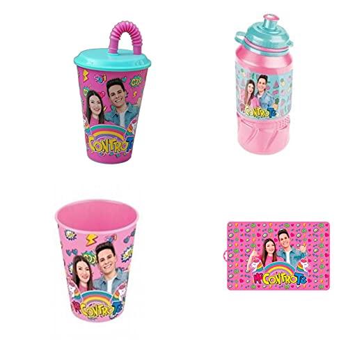 official product Me Contro Te tovaglietta Americana + Borraccia in plastica con beccuccio + Bicchiere in plastica +...