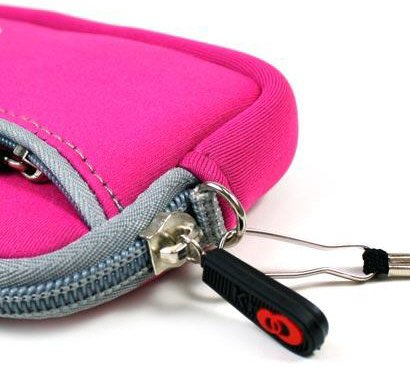 -- Hot Pink High-Quality Mini Sleeve Pouch Bag for Nikon Coolpix S8000 Black Digital Camera {+ 1pc name tag} -- Best Seller on Amazon!