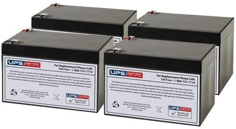 Set of 4 - Minuteman E Replacement Battery 2300i Unive Our shop most popular UB12120 Max 74% OFF