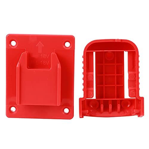 Valigetta portabatteria, dispositivo di fissaggio Portabatteria per attrezzi piccolo saldamente bloccato Portabatteria Portabatterie per batteria da 20V(rosso)