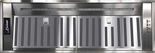 Kaiser Luxus Einbau Dunstabzugshaube,Lüfterbaustein,85 cm,Edelstahl,Einbauhaube,3 Stufen, 1000m³/h,Einbauhaube,Ablufthaube,Umlufthaube,LED Beleuchtung,Dunsthaube EEK A+,Premium Qualität,NEUHEIT 2020
