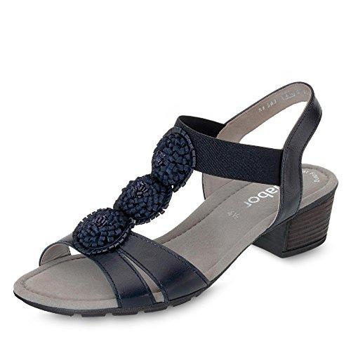Gabor Casual sandalen in grote maten blauw 84.563.26 grote damesschoenen