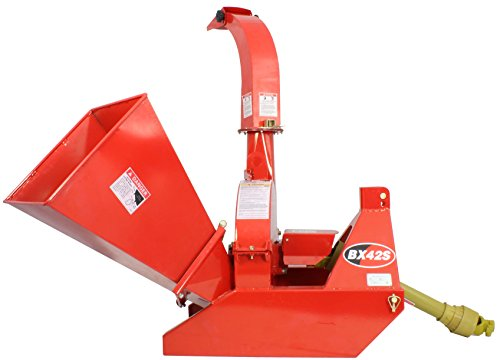 "Great Features Of 3-Point Attachment Wood Chipper for Tractors Up to 40HP, Titan BX42 PTO 4""x10"""