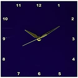 3dRose LLC Navy Blue 10 by 10-Inch Wall Clock