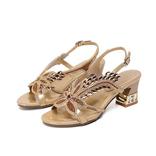 LJFZMD Sandalias De Gladiador Con Plataforma De Tacón Alto Para Mujer Zapatos...