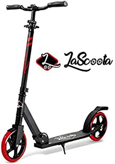 "Lascoota Scooters for Kids 8 Years and up - Quick-Release Folding System - Dual Suspension System + Scooter Shoulder Strap 7.9"" Big Wheels Great Scooters for Adults and Teens"
