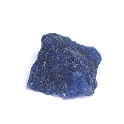 Real Gems Piedra de Zafiro Azul Africano 100% Natural, Rocas y espécimen Mineral 8.00 CT Zafiro Piedra Preciosa en Bruto