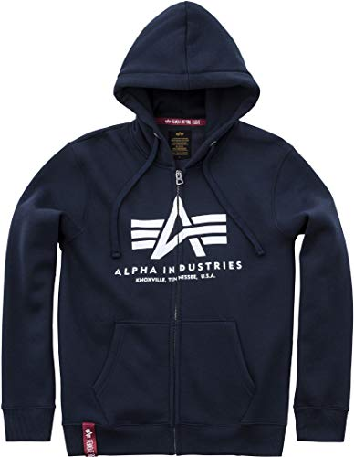 Alpha Industries Basic Zip Hoodie Marineblau S