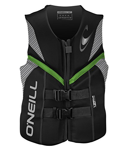 O'Neill Men's Reactor USCG Life Vest,Black/Lunar/Day-Glo,XX-Large