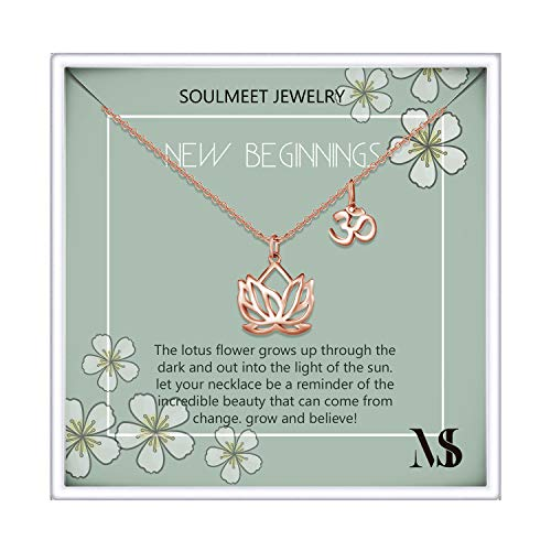 Om Lotus Flower Necklace