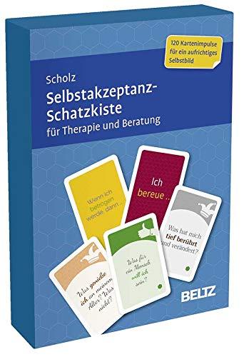 Selbstakzeptanz-Schatzkiste für Therapie und Beratung: 120 Karten mit 20-seitigem Booklet in stabiler Box, Kartenformat 5,9 x 9,2 cm (Beltz Therapiekarten)