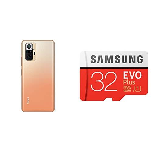 [SDカードセット]Xiaomi Redmi Note 10 Pro 6+128GB グラディエントブロンズ+Samsung EVO Plus 32GB microSDHC【日本正規代理店品】