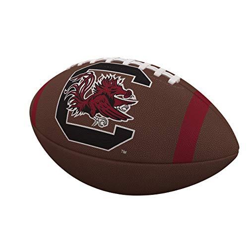 Logo Brands NCAA South Carolina Fighting Gamecocks Team Stripe Official-Size Composite Football, Brown