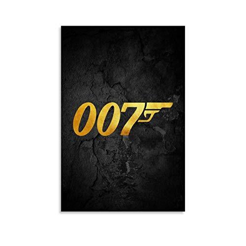 ZUNZUN James Bond - Poster artistico da parete e parete, 50 x 75 cm