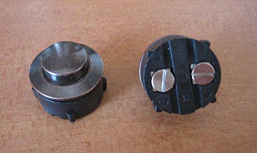 SCHARF metall design Klingel, Messing Klingeltaster, Klingelknopf, Taster brüniert