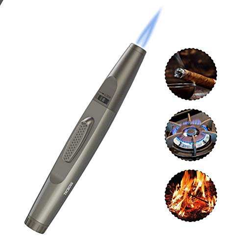 JUN-L Metal Flame Gun Welding Gas Torch Lighter Heating Lgnition Butane Portable Camping Welding Gas...