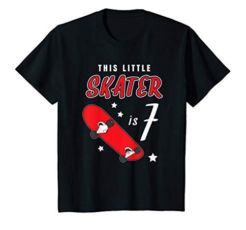 Kinder Kleiner Skater 7 Jahre! Skateboard Longboard Geschenk Sieben