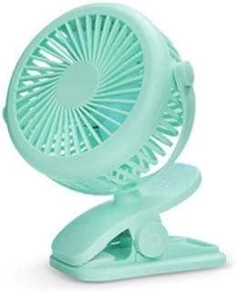 SLU - Ventilador portátil mini USB de ventilación plegable de aire acondicionado ventilador de mano para el hogar recargable, Verde, CN