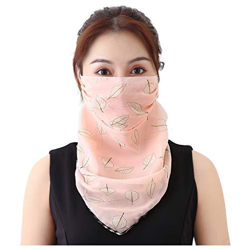 MOTOCO Kopftuch Bandana Mode Halstuch Stirnband Damen Schlauchtuch Neck Gaiter Gesichtsschutz Kopfbedeckung Halsmanschette Frauen Multifunktionstuch(L.F)