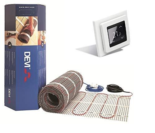 DEVI Devimat Dünnbettset Dünnbett Set mit Devireg Touch Fußbodenheizung DSVF150 (2,5m2)