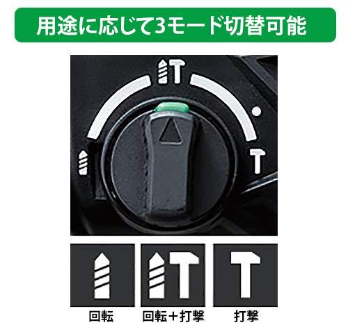 HiKOKI(ハイコーキ) 旧日立工機 コードレスロータリハンマドリル 36V マルチボルト 充電式 リチウムイオン電池(2個)、充電器、予備電池付※蓄電池保証書、純正ケース付 DH36DPA(2XP)