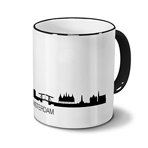 digital print Ciudades Taza Amsterdam–Diseño Horizonte/Silhouette Amsterdam