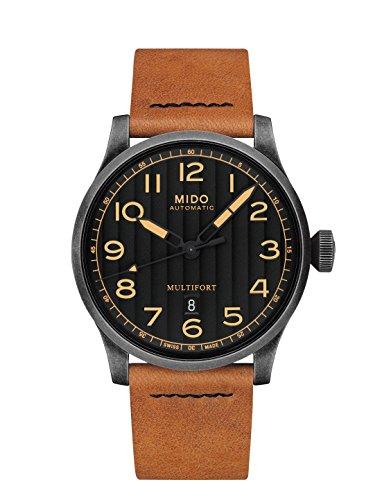 Mido Reloj de hombre automático 44mm correa de cuero caja de M0326073605099