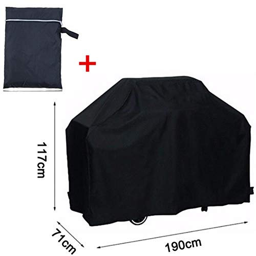 Jun BBQ Cover Grill Accessories Black Grill Cover Outdoor Waterproof Barbeque Cover Dust Rain UV Resistant Grill Cover 4 Sizes,190x71x117CM