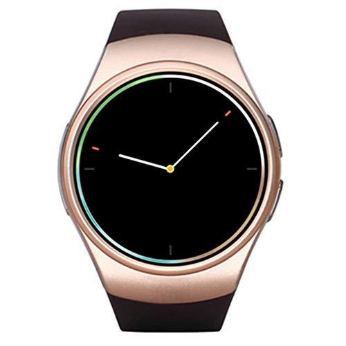 KDSFJIKUYB Smartwatch KW18 Smart Watch 1,3 '' IPS Round Dial Smartwatch Telefon SIM-Karte MTK2502 Schrittzähler Bluetooth 4.0 Pulsmesser Sport Tracker, Gold