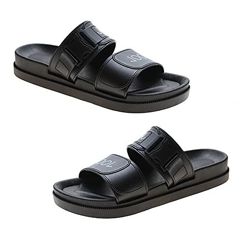 Mabor - Pantofole estive da donna, in pelle, leggere, comode, morbide, casual, con punta aperta, da spiaggia, sandali con zeppa