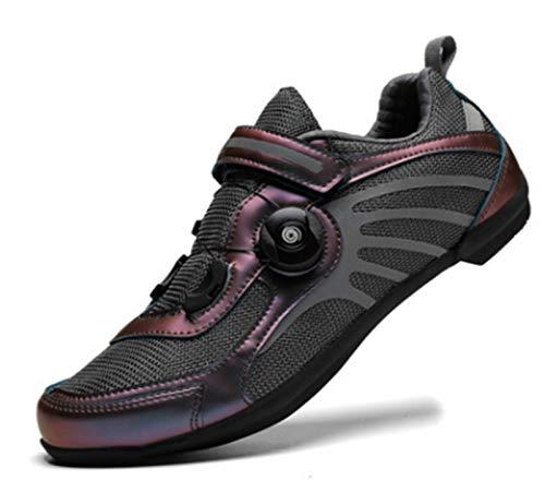 Govoland Montaña/carretera Bicicleta Zapatos de ciclismo Zapatos de bicicleta Sin cerradura Hombres y mujeres (38, oro rosa)