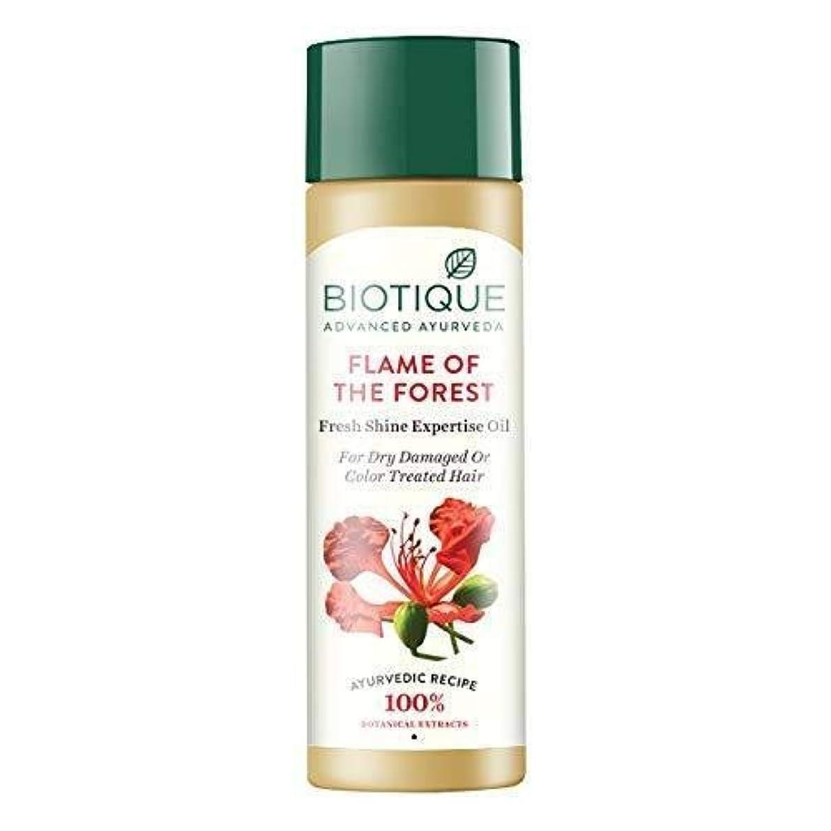 モンゴメリー平らにするダニBiotique Bio Flame Of The Forest Fresh Shine Expertise Oil 120ml Promotes Growth 森のBiotiqueバイオ炎新鮮な輝きの専門知識オイルが成長を促進