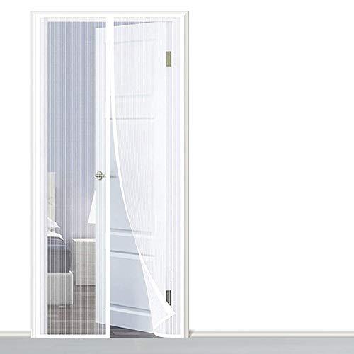 AMZERO Zanzariera Magnetica per Finestre, 90x250cm Zanzariere Magnetiche Totalmente Magnetica Chiudi Automaticamente per Casa Ufficio, Bianco A