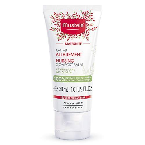 Mustela Maternity Nursing Comfort Balm - Nipple Cream for Breastfeeding - 100% Natural Ingredients & Olive Oil - Vegan & Fragrance Free - 1.01 fl. oz.