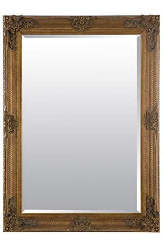 Abbey - Espejo de Pared Rectangular Envejecido, Color Dorado