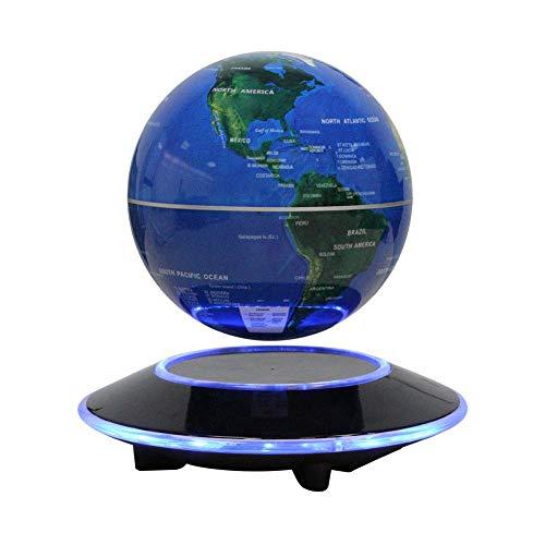 Dracarys Magnétique Lévitation Flottant Globe Tournant avec des lumières LED Carte du Monde - Anti-gravité Globe pour Cadeau éducatif – Accueil Bureau Bureau de la Classe Décoration - 6 Pouces