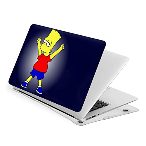 Simpsons Bart MacBook Laptop Case Laptop Hard Shell Case with Hard Shell Case + Cleaning Brush Water-Proof Dustproof Anti-Scratch Not Deformed PVC Protective Shell Suitable