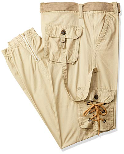Verticals Men's Cotton Dori Style Jogger Pants (Light Fawn, 34)