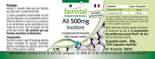 Knoblauch geruchlos 500mg 100 Softgels - 4