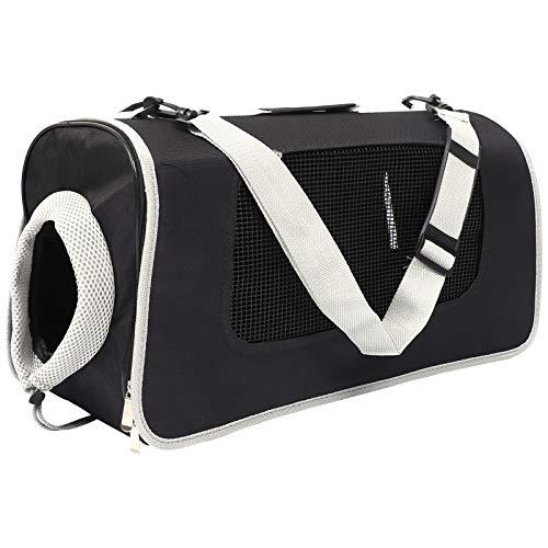 Balacoo ポータブルペットキャリアバッグ旅行猫折りたたみケージポータブルペットハンドバッグ屋内屋外ペット航空旅行輸送バッグ