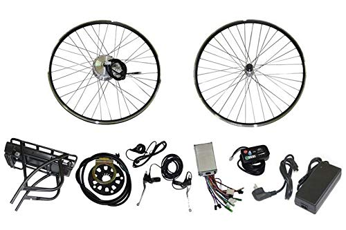Kit per TRASFORMAZIONE CONVERSIONE di Bici ELETTRICA City Bike MTB 36V con Batteria A Litio Motore 250W